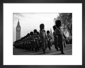 Bearskins and Big Ben, Parliament Square by Niki Gorick