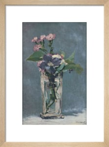 Carnations and Clematis in a Crystal Vase by Edouard Manet