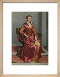 Portrait of a Lady, perhaps Contessa Lucia Albani Avogadro ('La Dama in Rosso') by Giovanni Battista Moroni