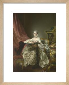 Madame de Pompadour at her Tambour Frame by Francois-Hubert Drouais