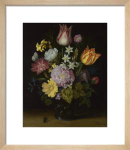 Flowers in a Glass Vase by Ambrosius Bosschaert the Elder
