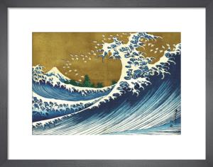 Big Wave (from 100 views of Mt. Fuji) by Katsushika Hokusai