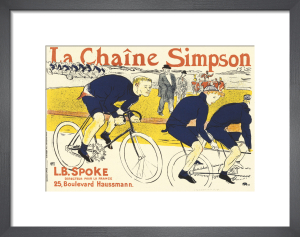 Simpson Bicycle Chains, 1896 by Henri de Toulouse-Lautrec