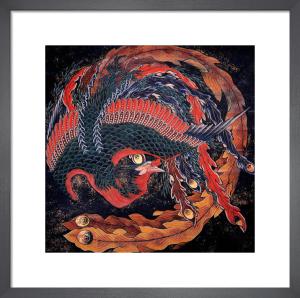 Phoenix by Katsushika Hokusai