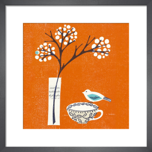 Bird on Teacup by Fiona Howard