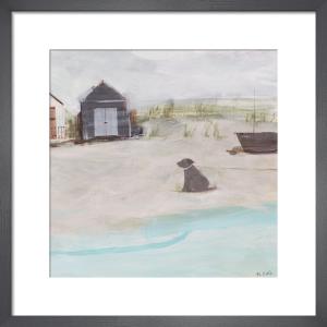 Beach & Hut & Dog by Hannah Cole