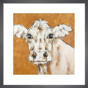 Cow on Orange by Nicola King