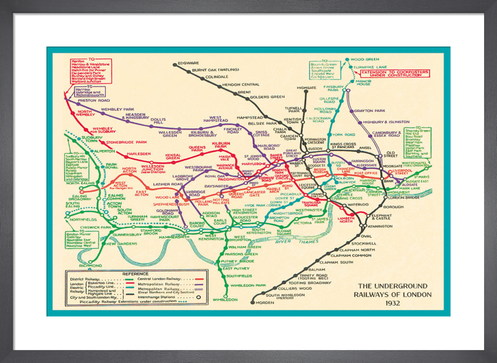 Transport For London Map.London Underground Map 1932