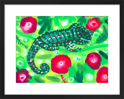 Green and Red Chameleon by Christopher Corr