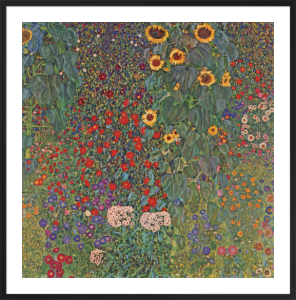 Farm Garden with Sunflowers, around 1905/1906 by Gustav Klimt