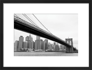 Manhattan from Brooklyn (b/w) by Erin Clark
