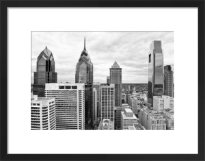 Philly Skyline (b/w) by Erin Clark