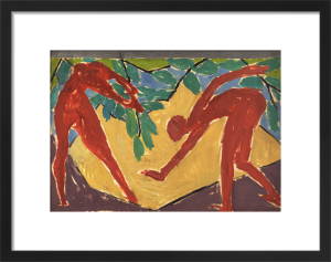 Design for a folding screen - Adam and Eve by Vanessa Bell