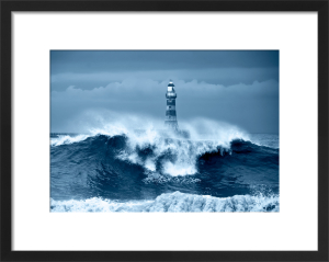 Above the Waves Blue by John Kirkwood