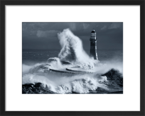 Roker Lighthouse Blue I by John Kirkwood