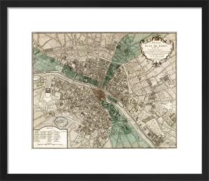 Plan de Paris by Vintage Reproduction