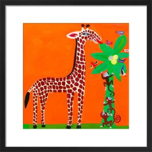 Giraffe and Monkeys by Christopher Corr