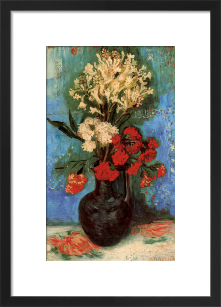 King \u0026 McGaw & Vase with Carnations and Other Flowers 1886