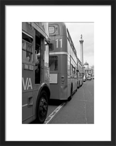 Doubledeckers up to Trafalgar Square by Niki Gorick