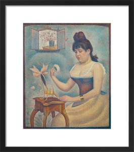 Young woman powdering herself by Georges Seurat