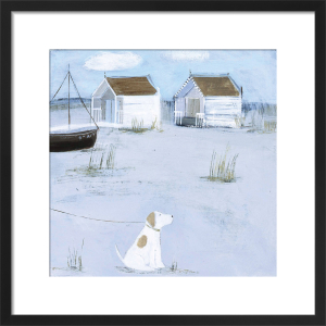 By the Beach Huts by Hannah Cole