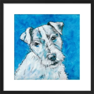 Dog on Blue by Nicola King