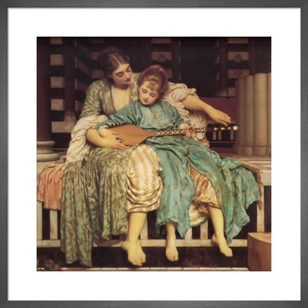 Music Lesson Art Print by Lord Frederic Leighton   King