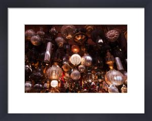 Lanterns, Medina Souk, Marrakech, Morocco by Sergio Pitamitz