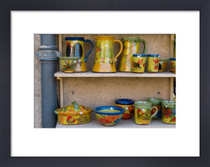 Pottery, Moustiers-Sainte-Marie, Provence, France by Sergio Pitamitz