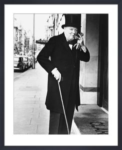 Sir Winston Churchill Outside Claridges Hotel by The Chelsea Collection