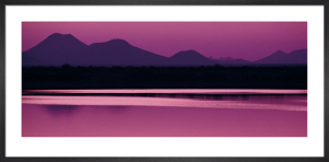 Silhouette of Mountains at Dusk by Anonymous