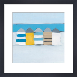 Summer Beach huts by Heidi Langridge
