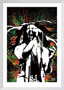 Bob Marley - Paint Splash by Anonymous