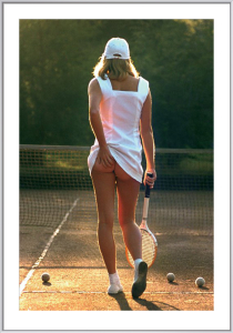 Tennis Girl by Martin Elliott