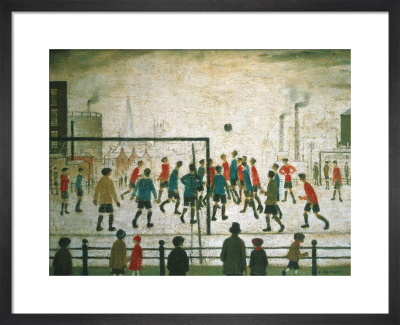 The Football Match by L S Lowry