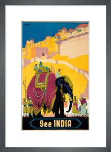 See India - Elephant by National Railway Museum