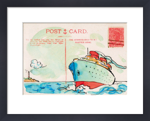 Carte Postal V by Claire Fletcher