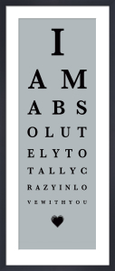 Eye Chart I by The Vintage Collection