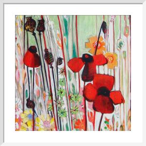 Poppy Field (detail) by Shyama Ruffell