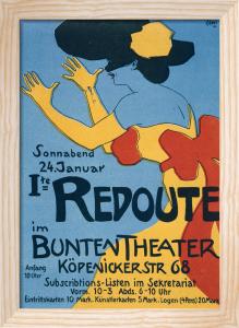 Masked Ball - Bunte Theatre, Berlin 1901 by Edmund Edel