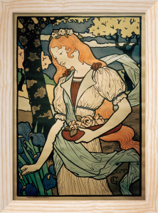 Art Exhibition - Grafton Gallery, 1893 by Eugene Grasset