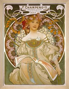 F Champenois - Printer, 1898 by Alphonse Mucha