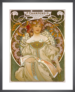 F Champenois - Printer, 1898 by Alphonse Mucha
