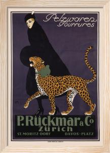 Ruckmar Furriers, Zurich 1910 by Ernest Montaut