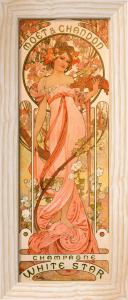 Moet & Chandon White Star Champagne, 1899 by Alphonse Mucha