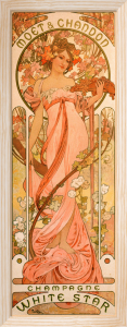Moet & Chandon White Star Champagne, 1899 by Alphonse Mucha