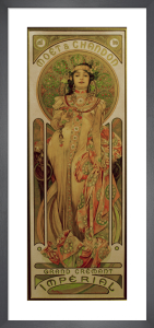 Moet & Chandon Imperial Champagne, 1899 by Alphonse Mucha