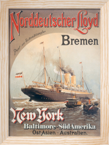 Norddeutscher Lloyd Shipping, 1890 by Anonymous