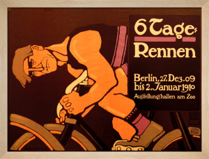 Six-Day Cycle Race, 1910 by Hans Rudi Erdt
