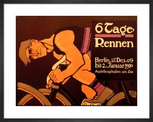 Six-Day Cycle Race, 1910 by Hans Rudi Erdt